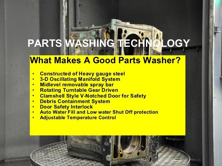 Parts washer Slide 3