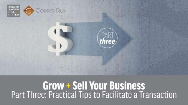Tips to Facilitate a Successful TRANSACTION