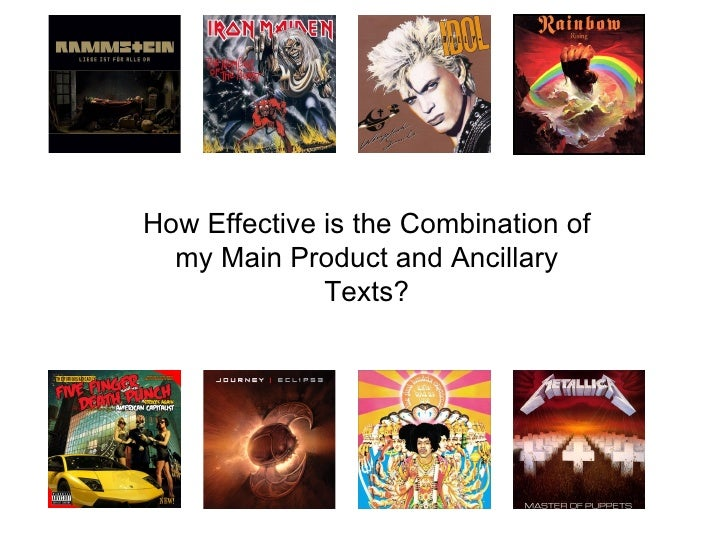 How Effective is the Combination of  my Main Product and Ancillary              Texts?