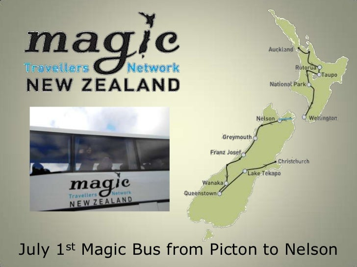 July 1st Magic Bus from Picton to Nelson