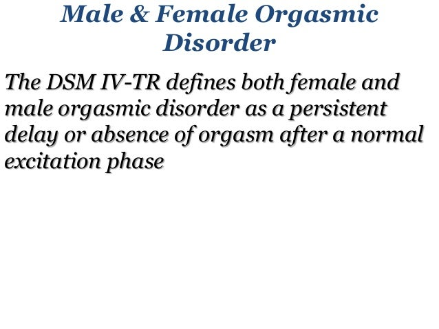 Female orgasm symptoms