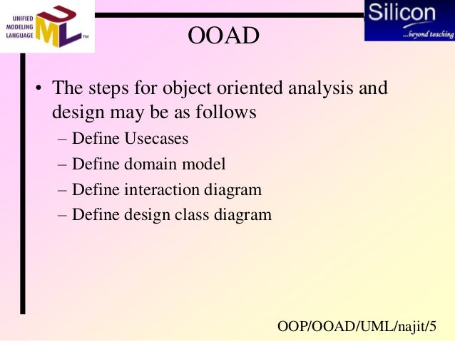 Object Oriented Analysis Design Using Uml