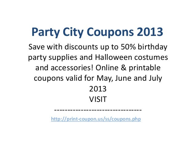 Party supply coupons
