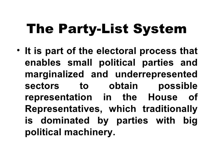 Party List Law Brief