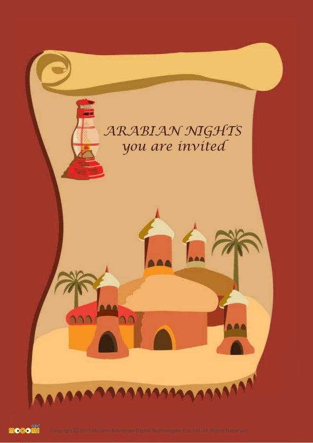 Arabian Nights Theme Party for kids Mocomi – Arabian Nights Party Invitations