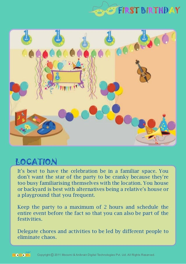 First Birthday Theme Party For Kids Mocomi Com