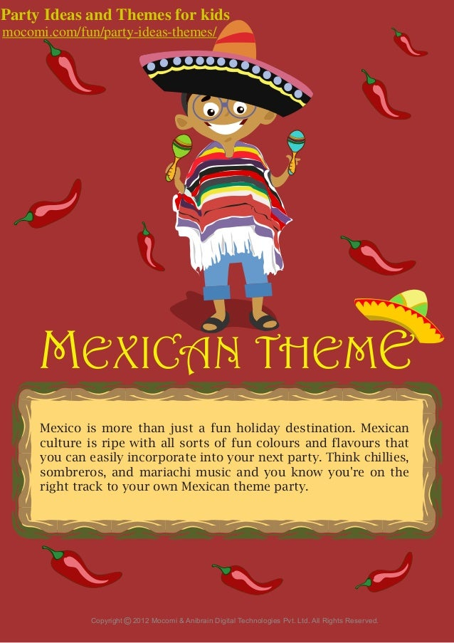 mexico theme party for kids  u2013 mocomi com