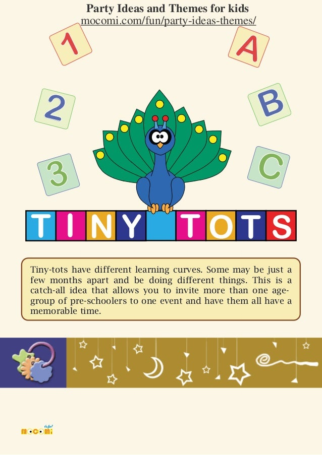 Tinytots Theme Party for Kids Mocomicom