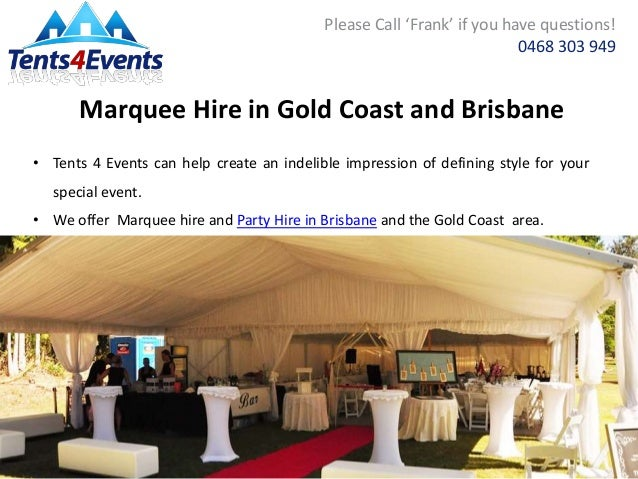 Marquee Hire in Gold Coast and Brisbane ...  sc 1 st  SlideShare & Party Hire in Brisbane For Your Upcoming Event Or Party - Tents 4 Eveu2026