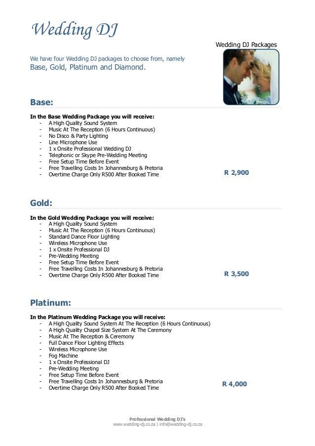 Wedding DJ Wedding DJ Packages Professional Wedding DJu0027s .wedding-dj.co.  sc 1 st  SlideShare & Partymix Wedding DJ Packages 2014