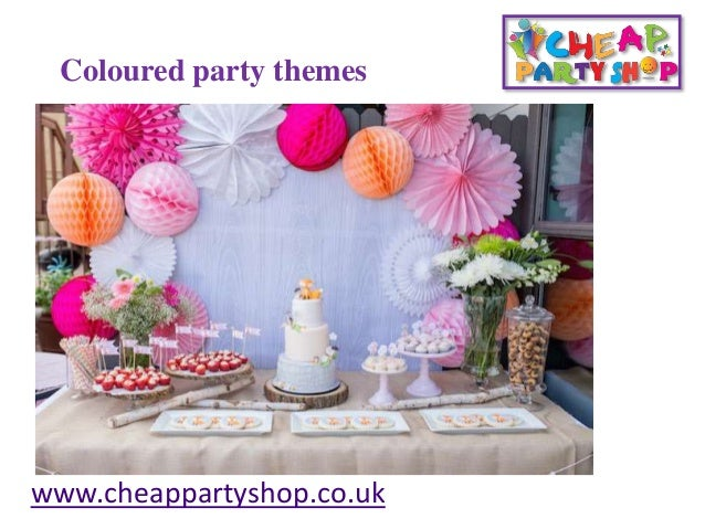 Coloured Party Themes Cheappartyshopcouk