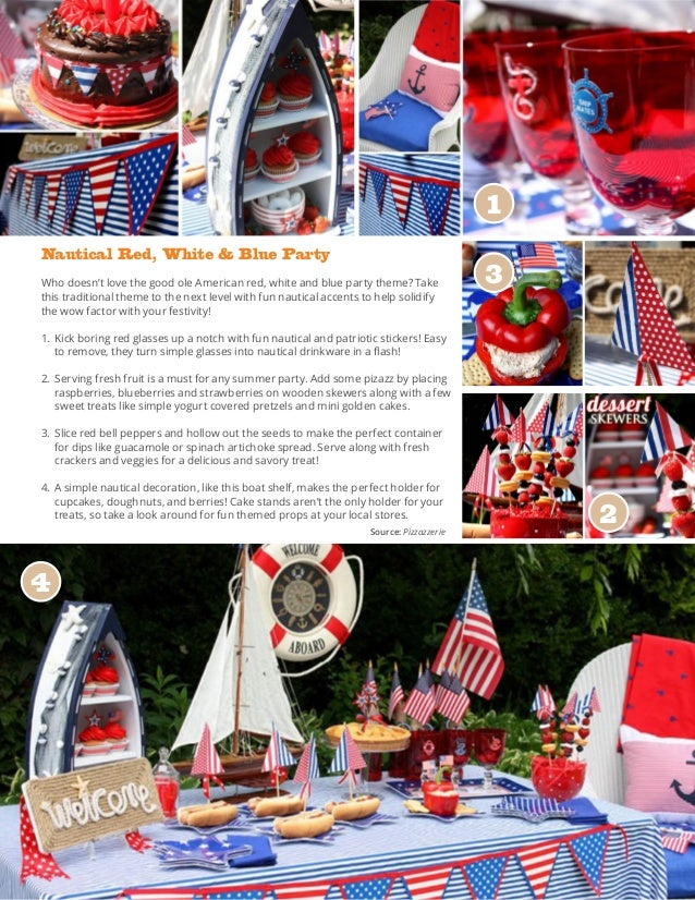 Nautical Red, White & Blue Party Who doesn't love the good ole American red, white and blue party theme? Take this traditi...