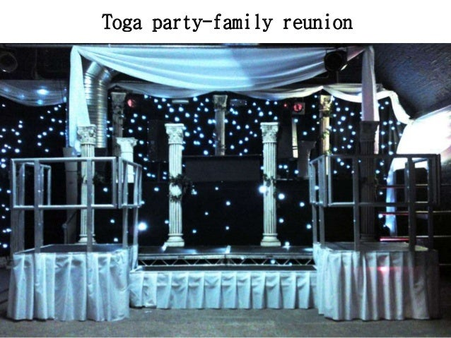 Family reunion party decorations