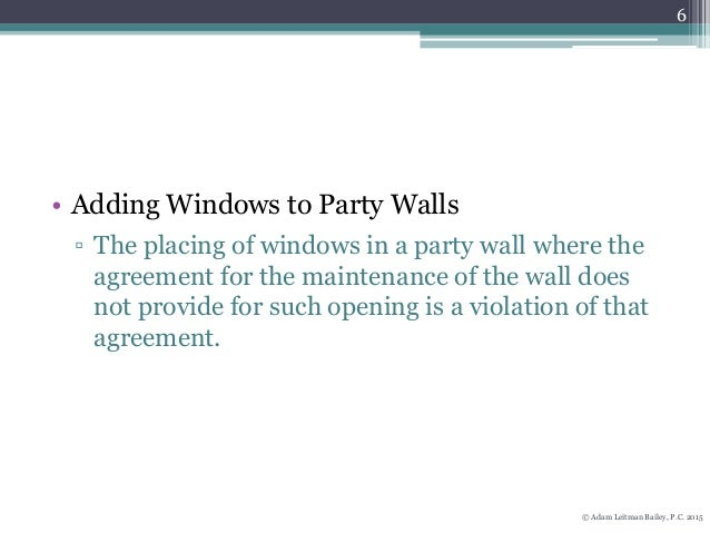 New York 39 S Party Wall Laws