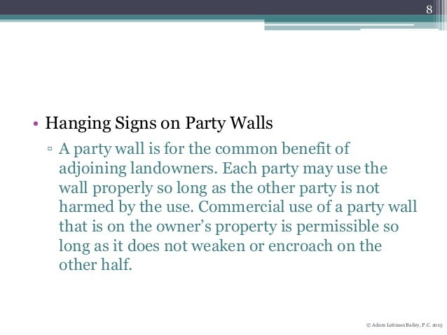New Yorks Party Wall Laws