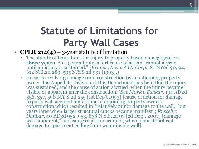 New York Statute Of Limitations Property Damage