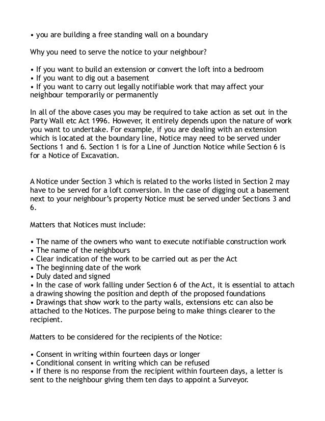 Wall agreement letter uk 28 images wall agreement for Party wall agreement
