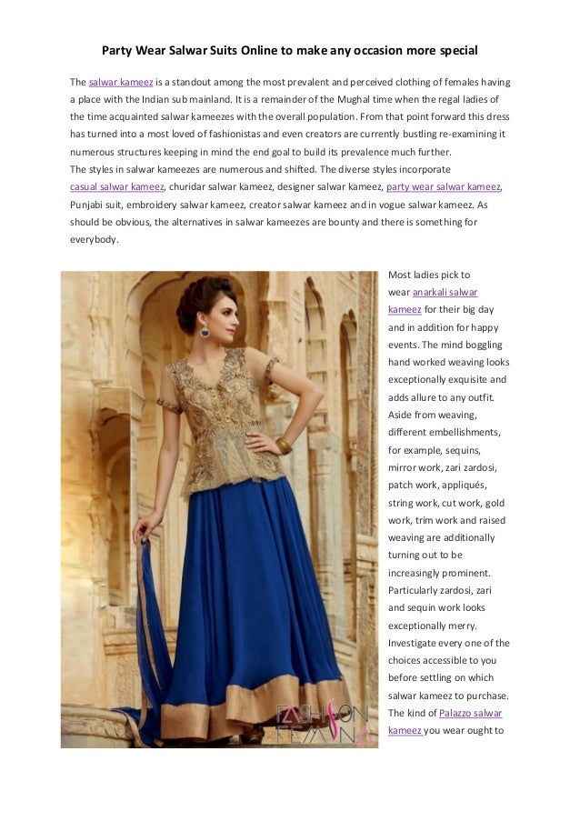 2e8bebdebe Party wear salwar suits online to make any occasion more fun