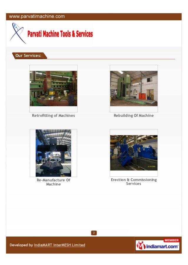 Parvati Machine Tools & Services, Pune, Retrofitting of Machines Slide 3