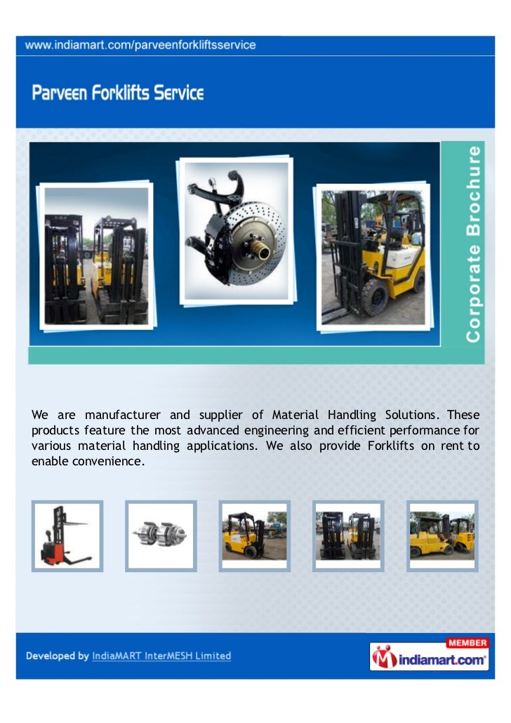 We are manufacturer and supplier of Material Handling Solutions. Theseproducts feature the most advanced engineering and e...
