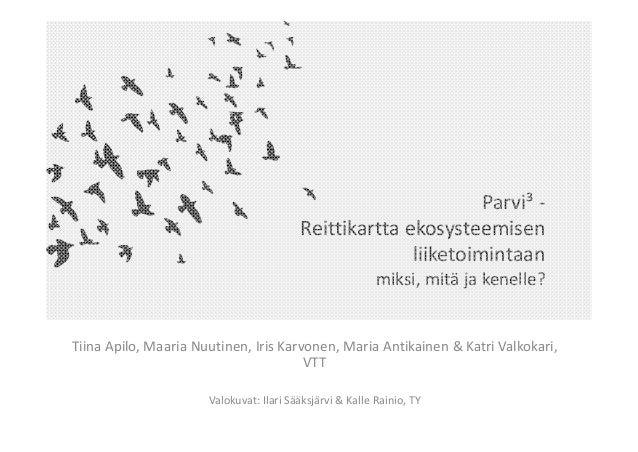 Parvi³‐ Reittikarttaekosysteemisen liiketoimintaan miksi,mitäjakenelle? TiinaApilo,MaariaNuutinen,IrisKarvonen,...
