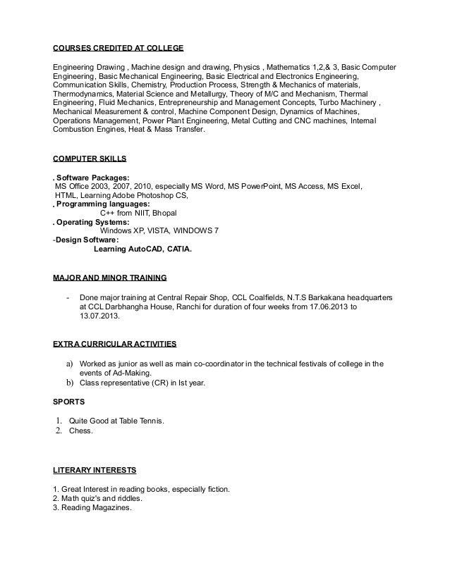 computer software skills resume