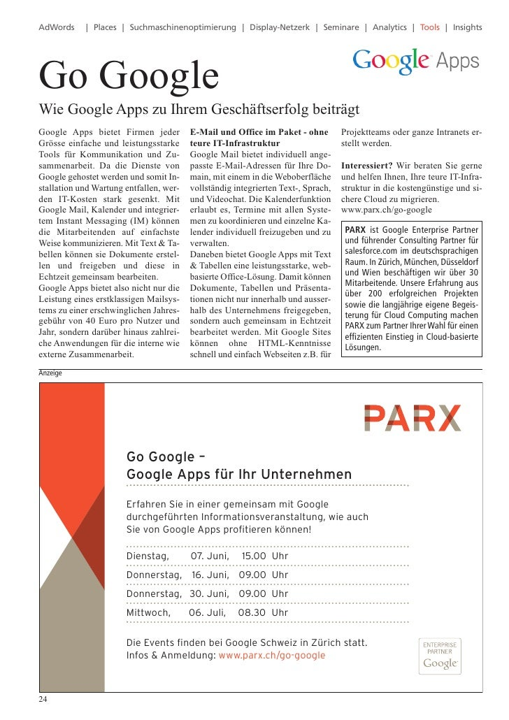 Go GoogleAdWords     | Places | Suchmaschinenoptimierung | Display-Netzerk | Seminare | Analytics | Tools | InsightsWie Go...