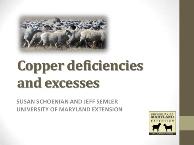 Copper deficienciesand excessesSUSAN SCHOENIAN AND JEFF SEMLERUNIVERSITY OF MARYLAND EXTENSION