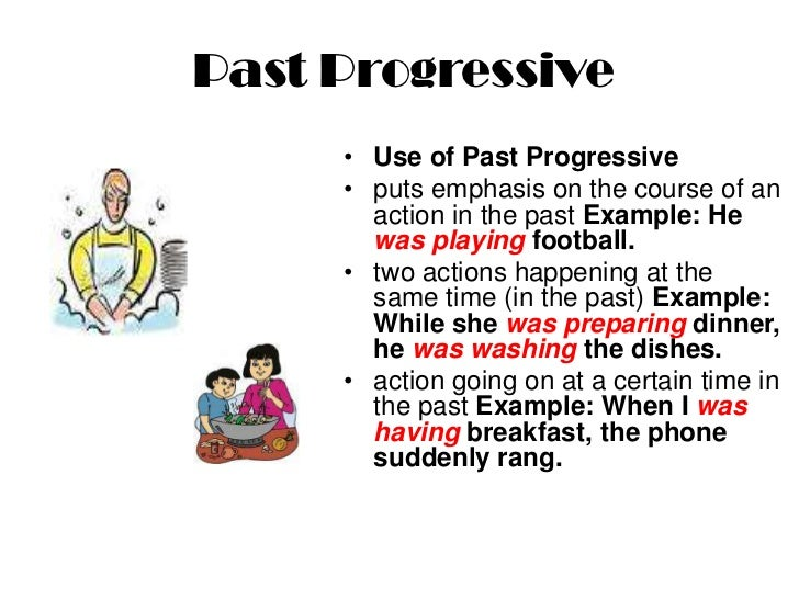 Past simple - Past Progressive