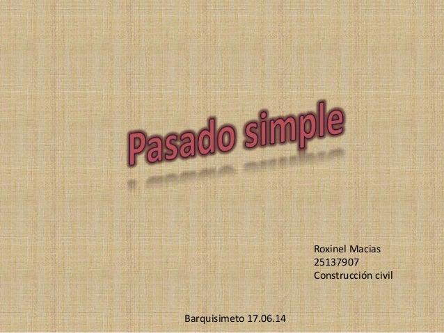 Roxinel Macias 25137907 Construcción civil Barquisimeto 17.06.14
