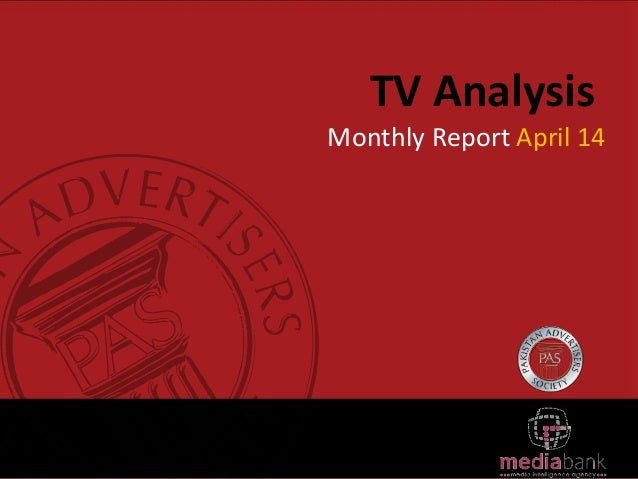 TV Analysis Monthly Report April 14