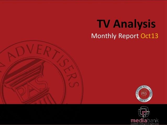 TV Analysis Monthly Report Oct13
