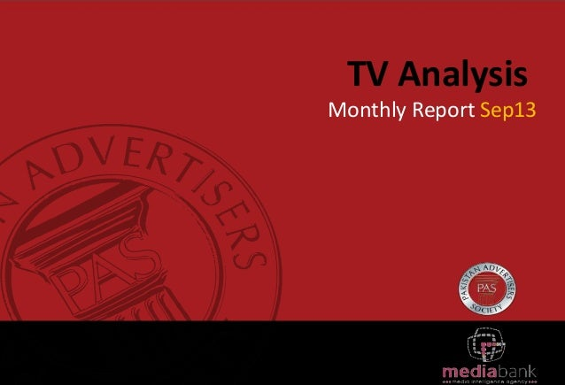 TV Analysis Monthly Report Sep13