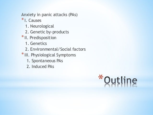 Anxiety disorder paper