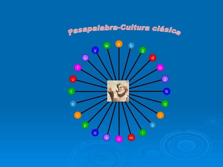 Pasapalabra-Cultura clásica w y c f u t s r p o x n m l k i q h z e d g b a