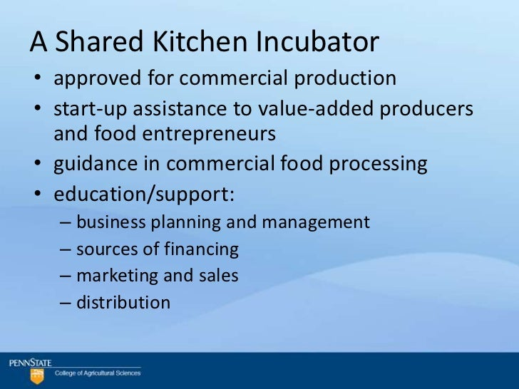 Kitchen incubators: is there a recipe for success?