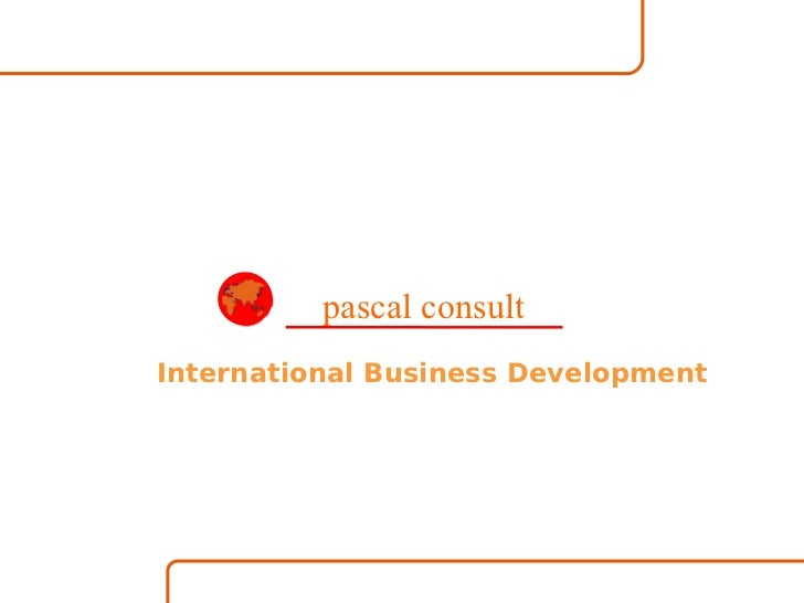 International Business Development pascal consult