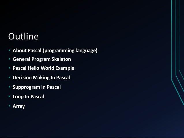 Pascal Programming Language
