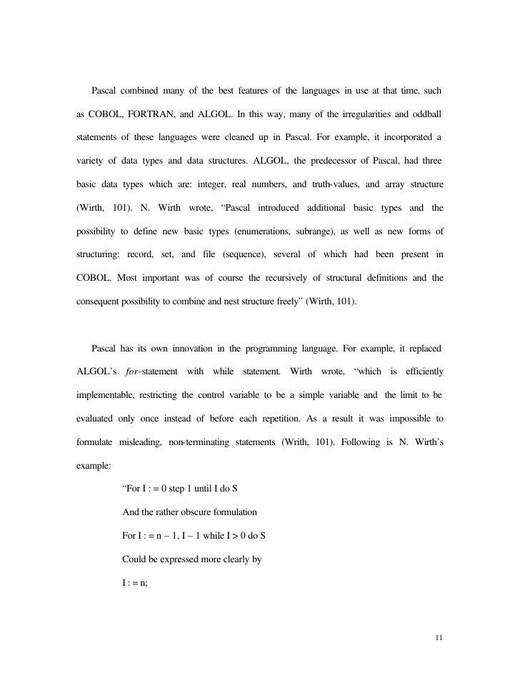 pascal language
