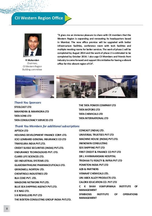 9  POWER INDUSTRIES  WEIKFIELD FOODS PVT.LTD.  BLUE DART EXPRESS LTD.  WARTSILA INDIA LTD  GARIMA GLOBAL PVT.LTD.  OMR BAG...