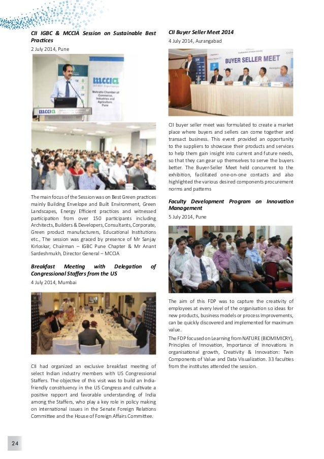 25  CII CEO's Session on Policy Triggers and Tough  Actions To Trigger Growth  8 July 2014, Pune  The Confederation of Ind...