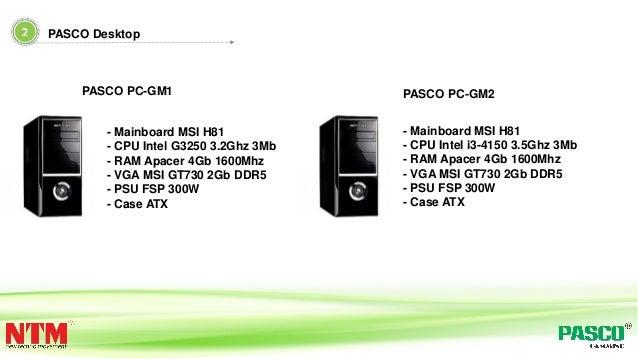 - Mainboard MSI H81 - CPU Intel G3250 3.2Ghz 3Mb - RAM Apacer 4Gb 1600Mhz - VGA MSI GT730 2Gb DDR5 - PSU FSP 300W - Case A...