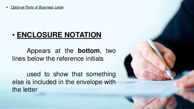13 Optional Parts Of Business Letter