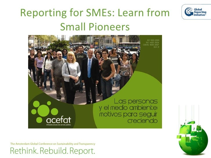Reporting for SMEs: Learn from Small Pioneers