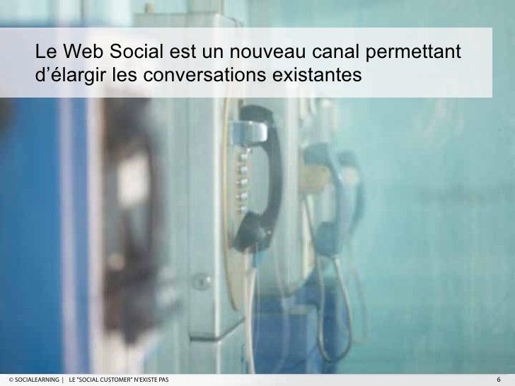 """Le Web Social est un nouveau canal permettant        d'élargir les conversations existantes© SOCIALEARNING   LE """"SOCIAL CU..."""