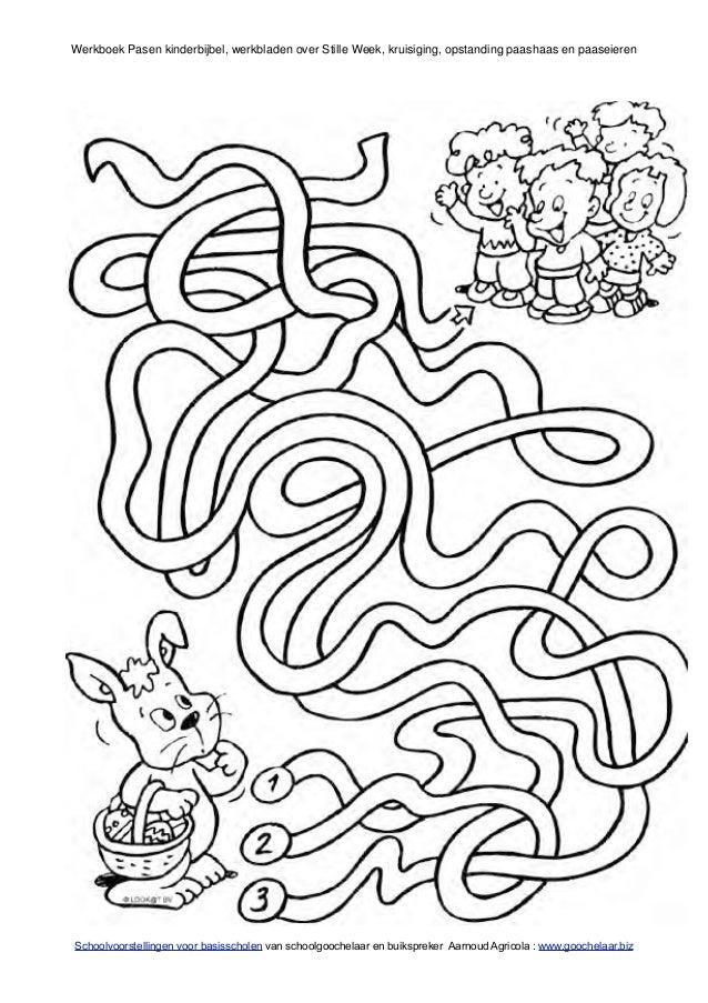 Paasfeest Kleurplaat Pasen Werkboek Met Kinderbijbel Verhalen En Werkbladen Van