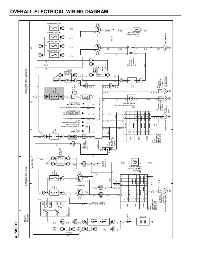 esquemas el ctricos toyota paseo 1996 rh slideshare net Mallory Distributor Wiring Diagram Ignition System Diagram