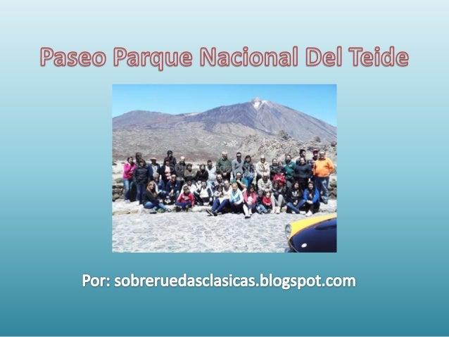 Paseo parque nacional del teide