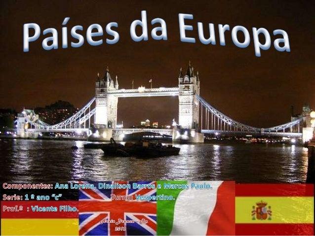 •     A Alemanha é o país da UE com maior número de habitantes. O seu território estende-se do Mar do    Norte e do Mar Bá...