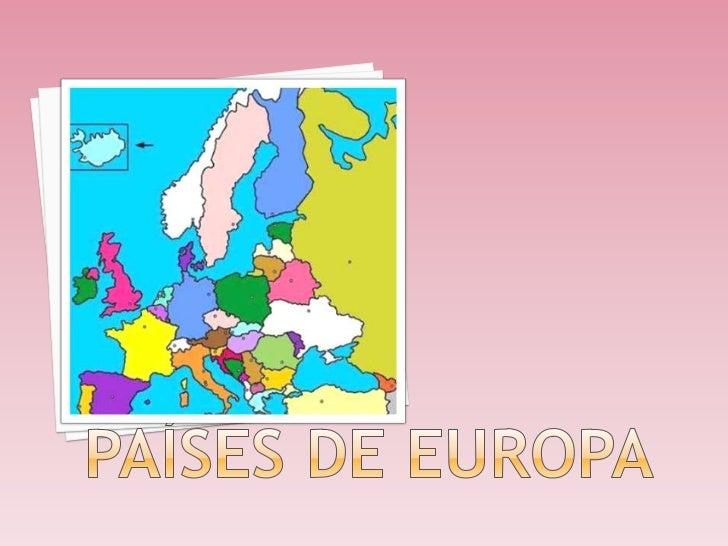 PAÍSES DE EUROPA <br />